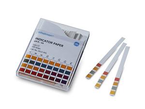 GBS 2613991 6 MM x 80 MM, Range 0-14.0, Color-Bonded, pH Strips (100 Per Pack)
